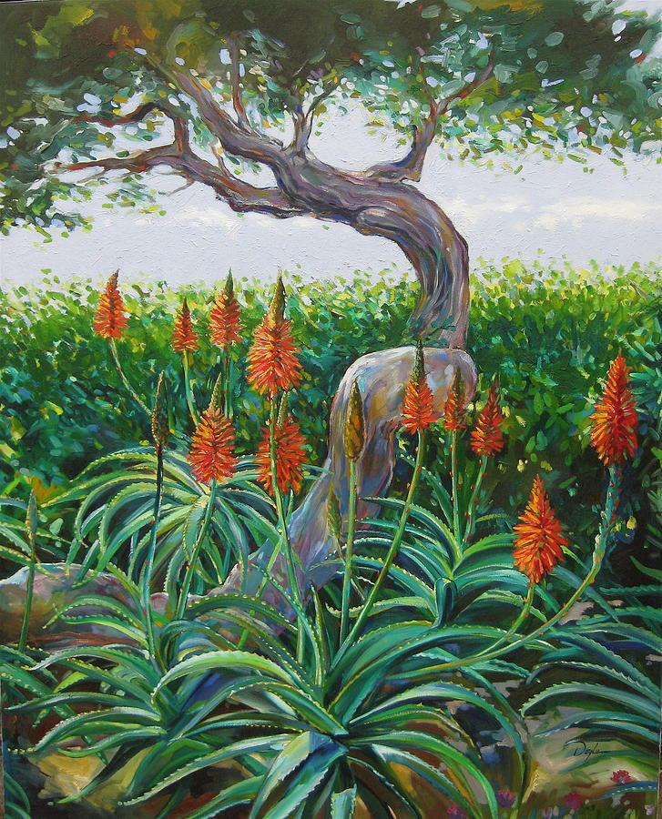 Botanical Painting - Aloe Vera by Karen Doyle