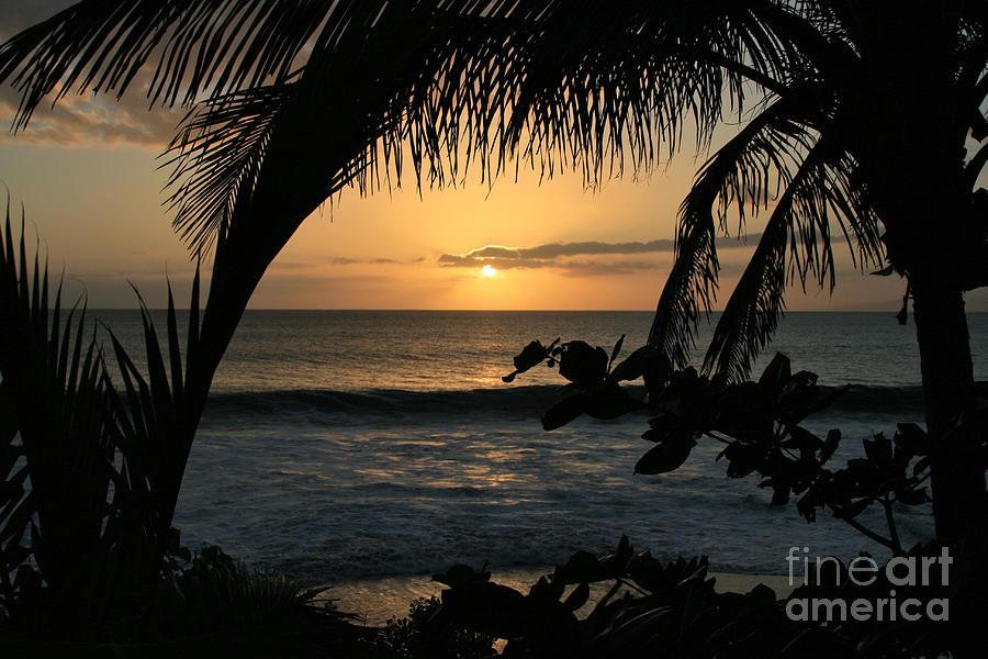 Aloha Photograph - Aloha Aina The Beloved Land - Sunset Kamaole Beach Kihei Maui Hawaii by Sharon Mau