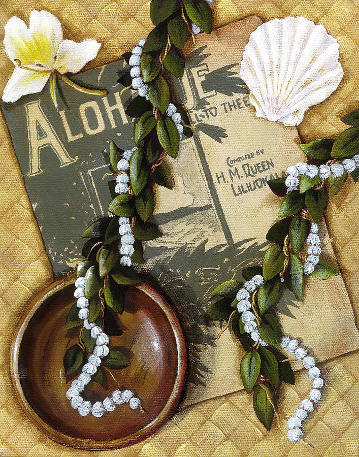 Acrylic Painting - Aloha Oe by Sandra Blazel - Printscapes