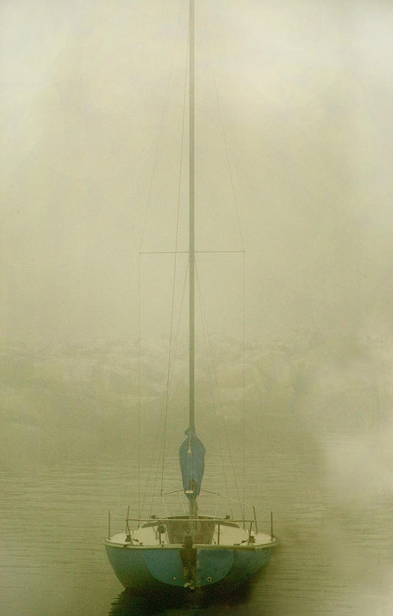 Sailboat Photograph - Alone by Clyde Replogle