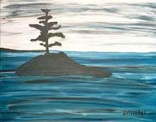 Water Print - Alone by Edward  Grimaldi