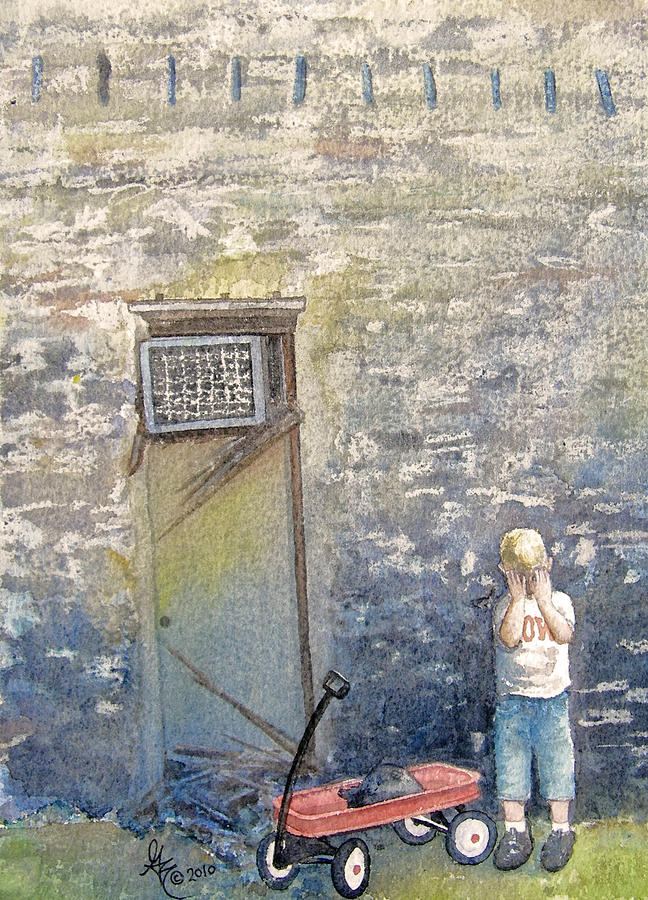 Child Painting - Alone by Gale Cochran-Smith