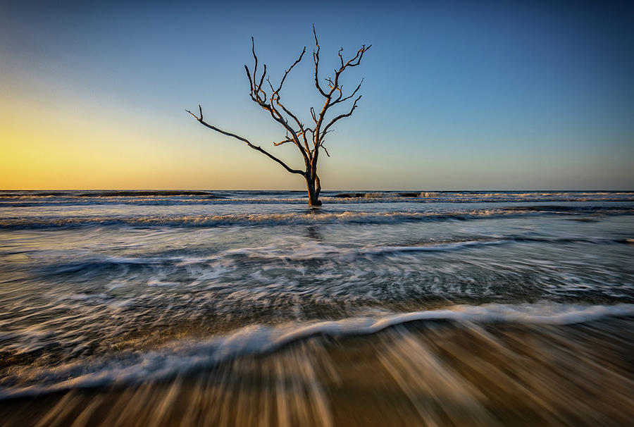 Sunrise Photograph - Alone In The Water by Rick Berk