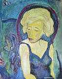 Woman Mixed Media - Alone by Jean Crenshaw