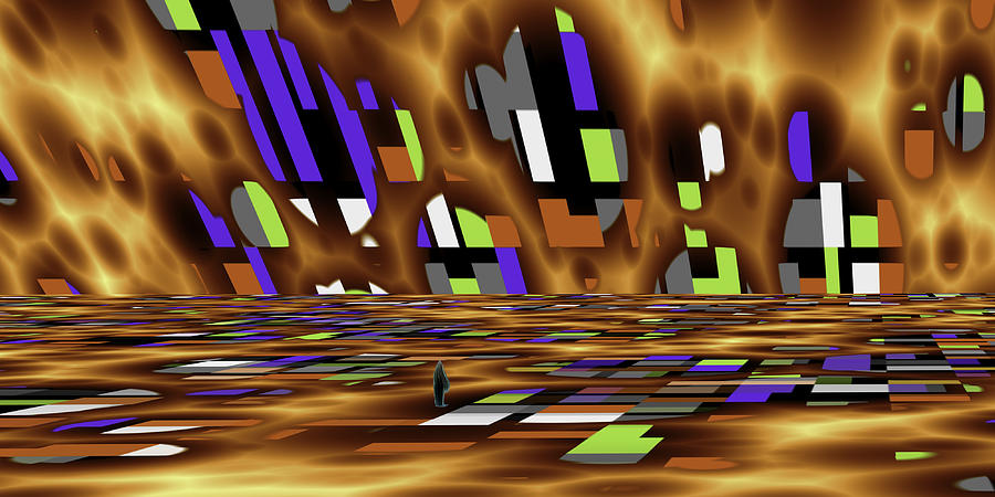 Abstract Digital Art - Alone by Jean-Marc Lacombe