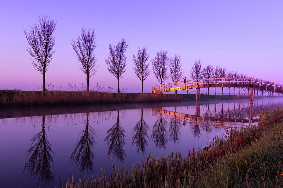 Alone on a Canal Bridge by Susan Leonard