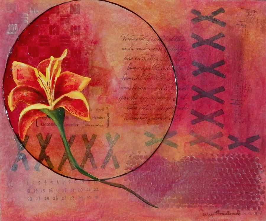 Floral Painting - Alone by Terry Honstead