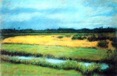 Along 417 Painting by Helen Hickey