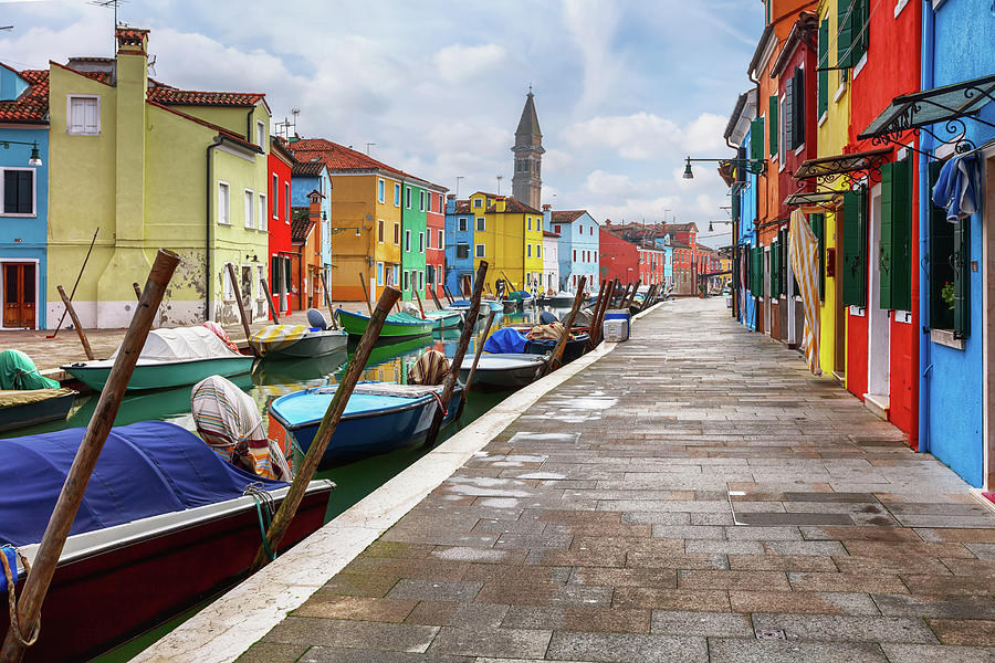 Along the Canal In Burano island by Evgeni Dinev