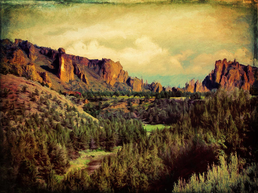 Crooked River Photograph - Along The Crooked River by Debbie Smith