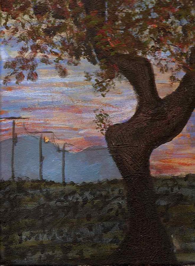Landscape Painting - Along The Highway To Santa Fe by Rika Maja Duevel