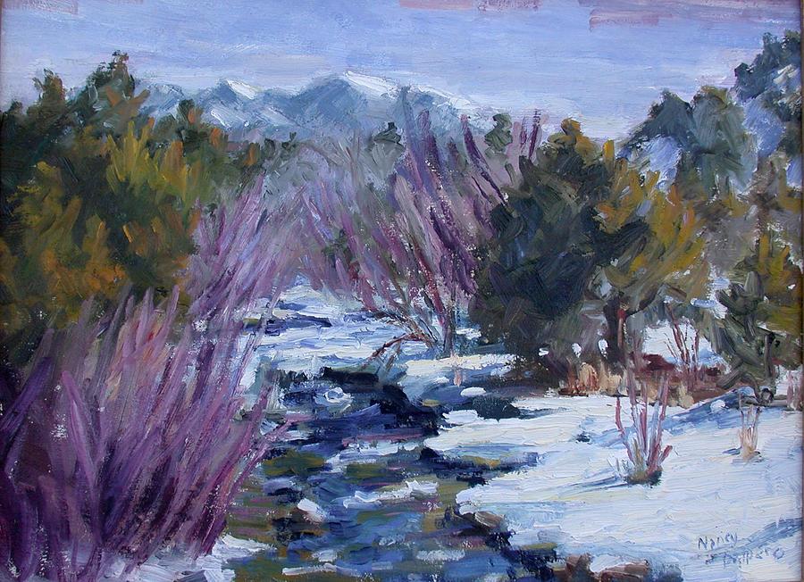 River Painting - Along the Rio Hondo by Nancy Delpero