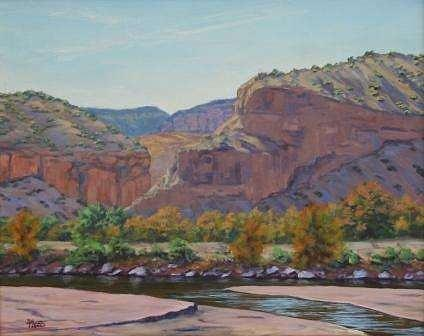 River Painting - Along The Rio by Mark Ploss