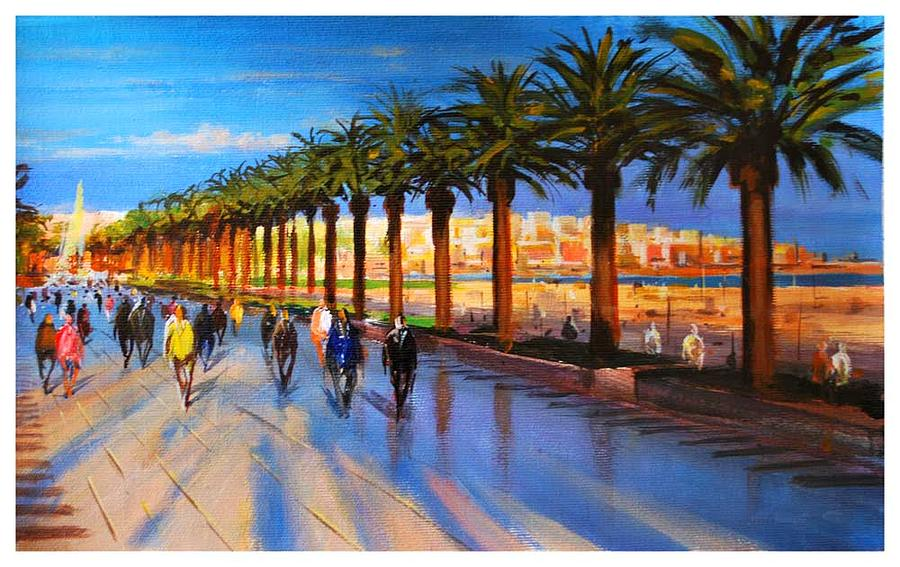 Landscape Painting - Along The Sea by Manuel Garcia