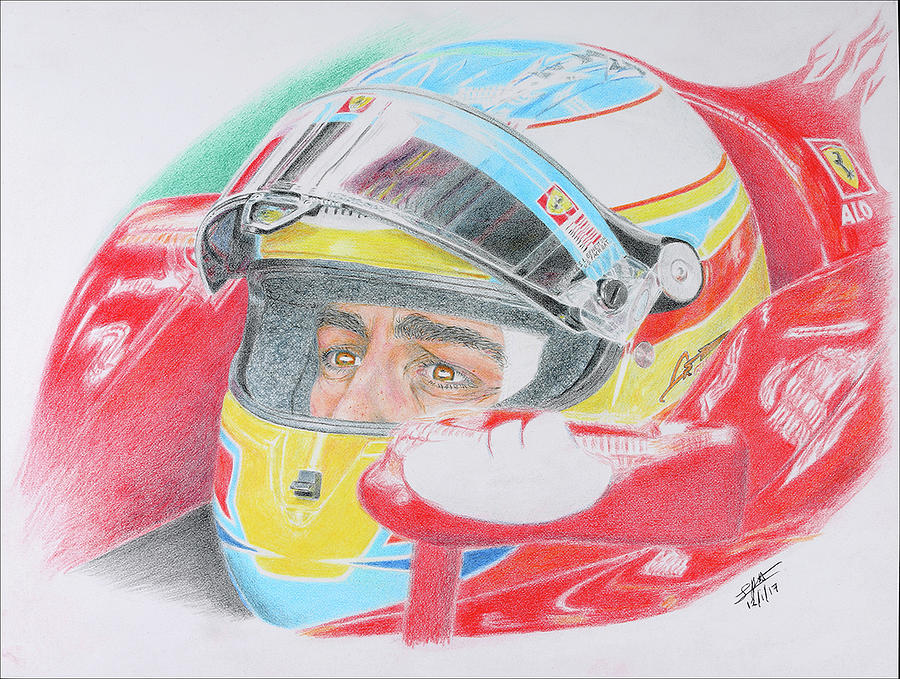 Fernando Alonso - Ferrari epic victory in Korea 2010 by Lorenzo Benetton