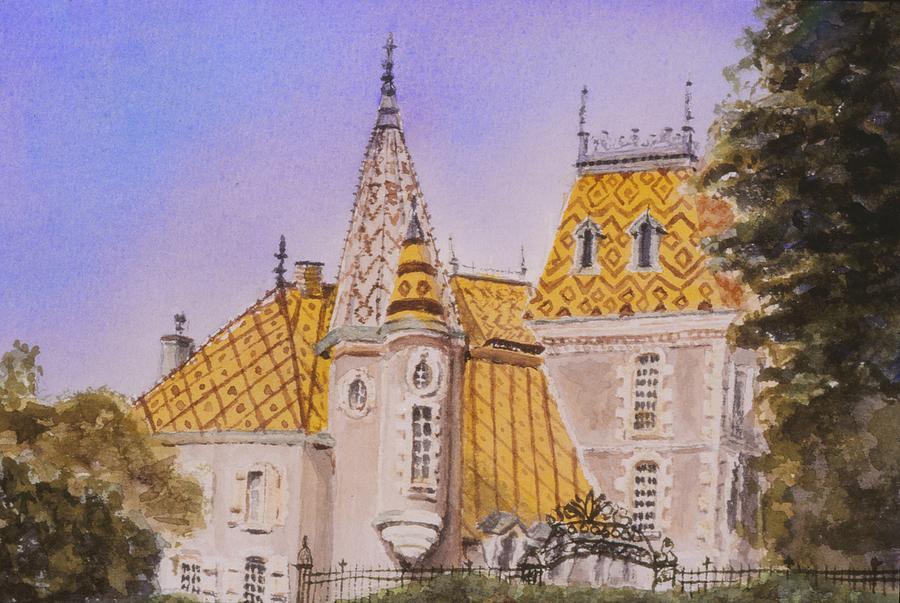 Vineyard Painting - Aloxe Corton Chateau Jaune by Mary Ellen Mueller Legault