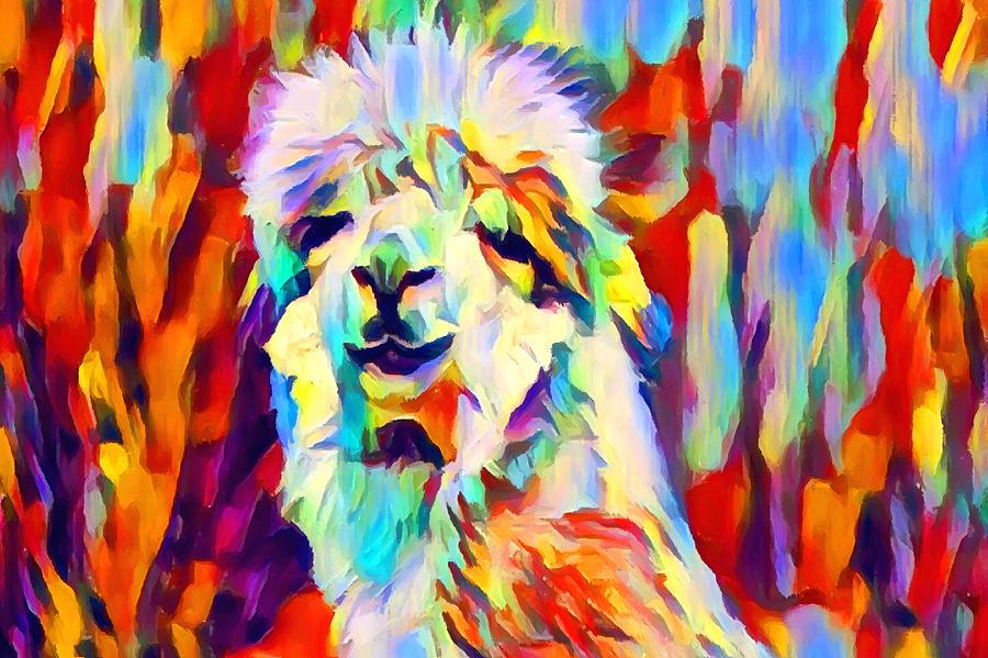 Alpaca Painting - Alpaca by Chris Butler