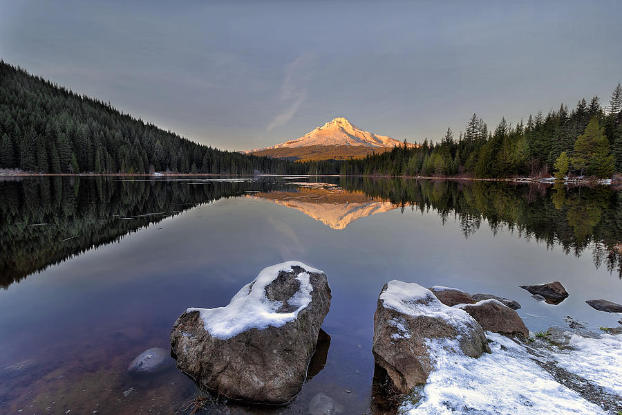Alpenglow Photograph - Alpenglow by David Gn