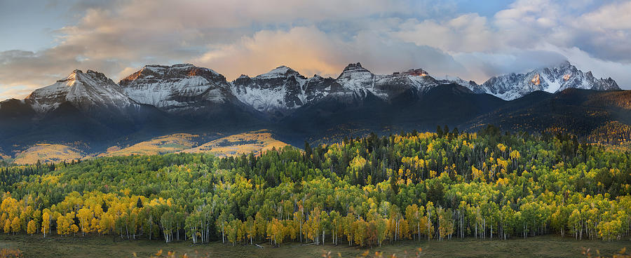 Fall Colors Photograph - San Juan Mountains Fall Colors Sunrise by Sun Gallery Photography Lewis Carlyle