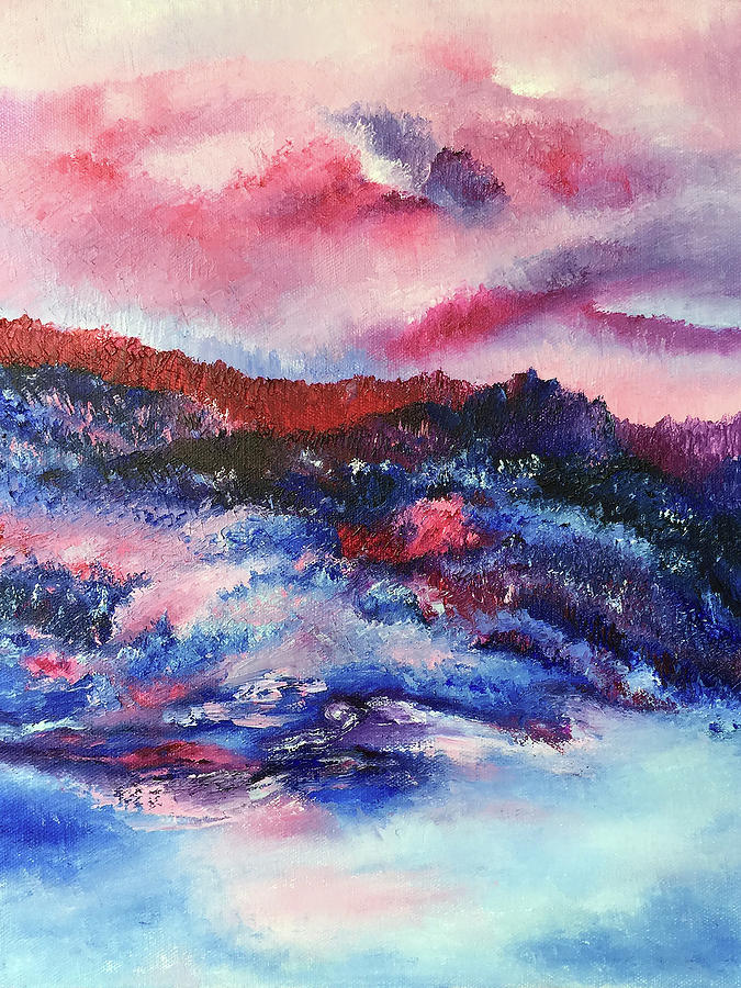 Impressionist Painting - Alpenglow by Terry R MacDonald
