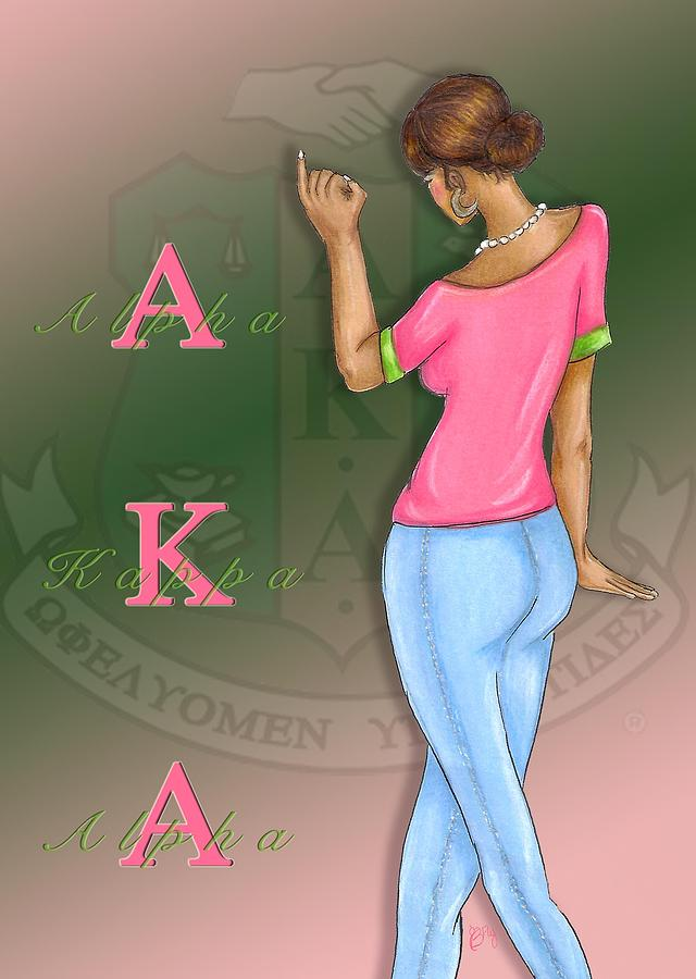 Alpha Kappa Alpha Digital Art by BFly Designs