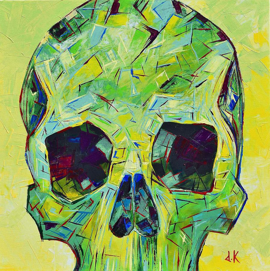 Skull Painting - Alpha Skull by David Keenan