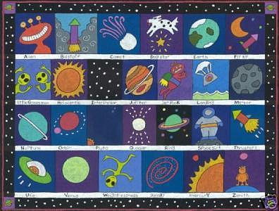 Alpha Space Print by Nancy  Coffelt