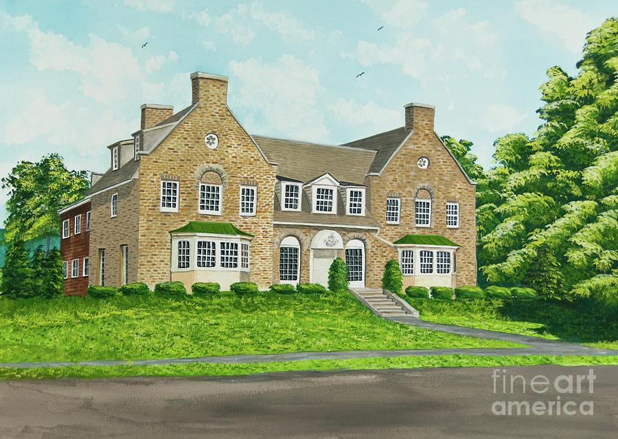 Colgate University Fraternity House Painting - Alpha Tau Omega by Charlotte Blanchard