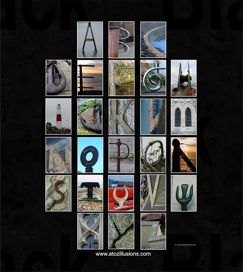 Alphabet Illusion Www Atozillusions Com Photograph By