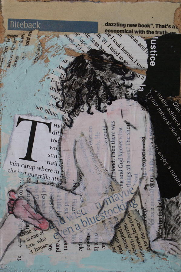 Nude Painting - Alphabet Nude T by Joanne Claxton