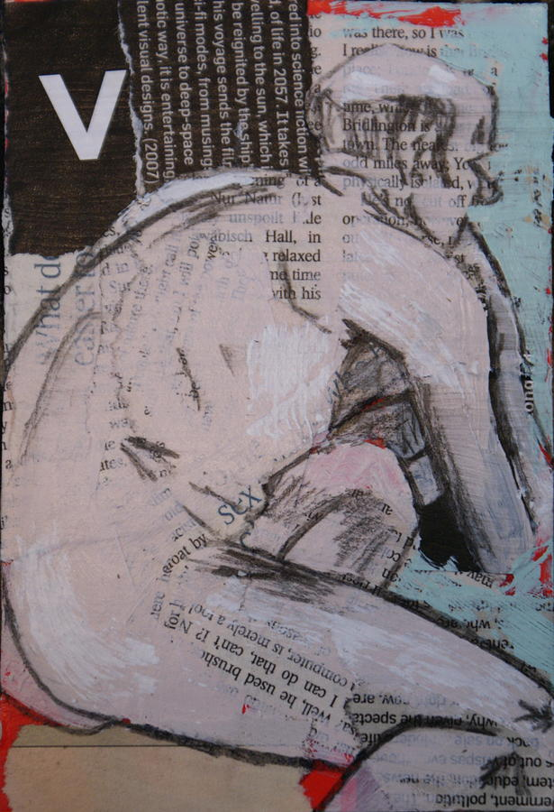 Nude Painting - Alphabet Nude V by Joanne Claxton