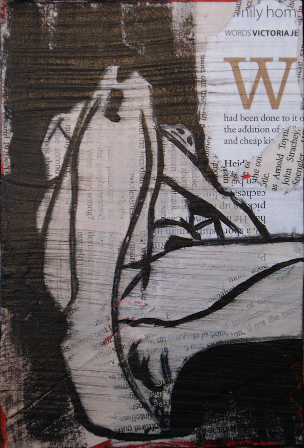 Nude Painting - Alphabet Nude W by Joanne Claxton