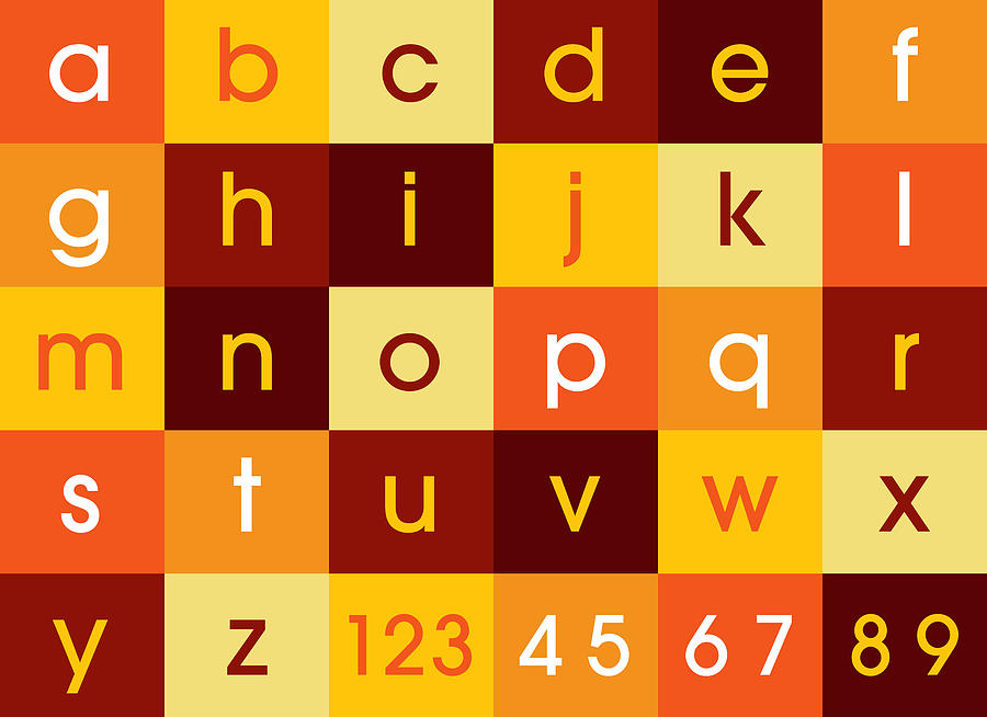 Alphabet Digital Art - Alphabet Sunset by Michael Tompsett