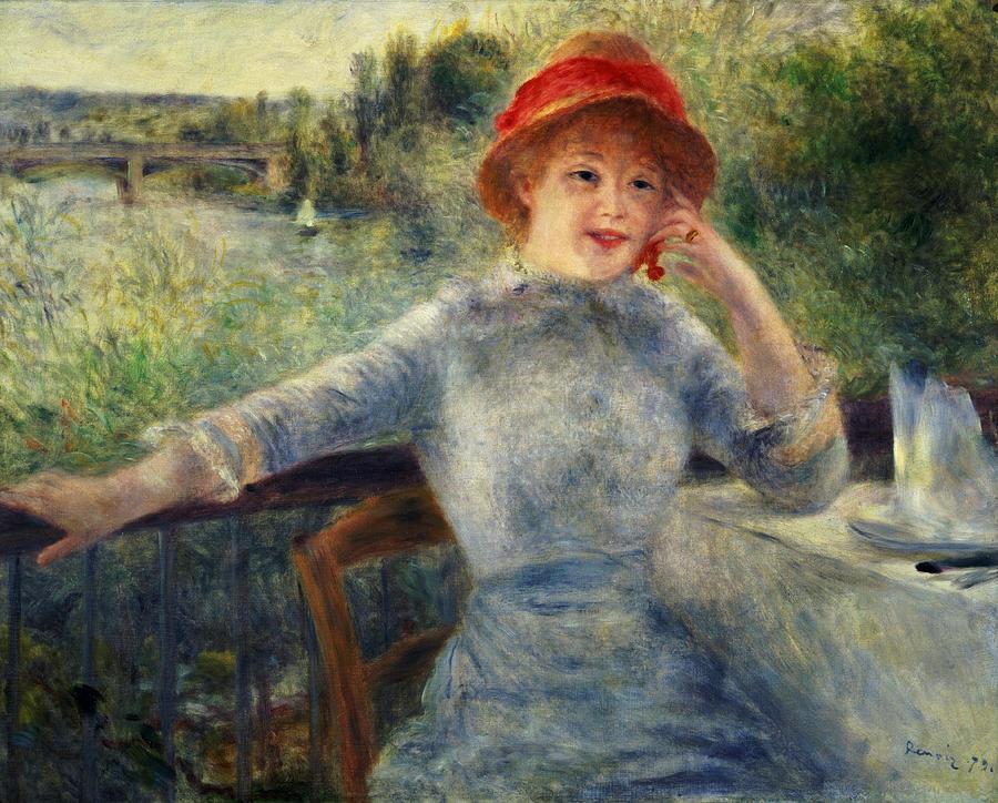 Alphonsine Painting - Alphonsine Fournaise by Pierre Auguste Renoir