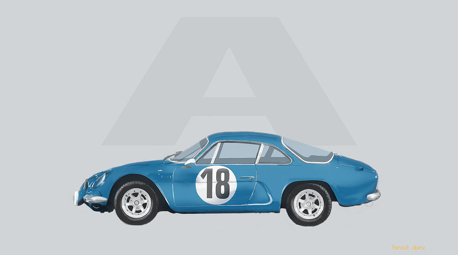 2015 Mixed Media - Alpine A110 by TortureLord Art