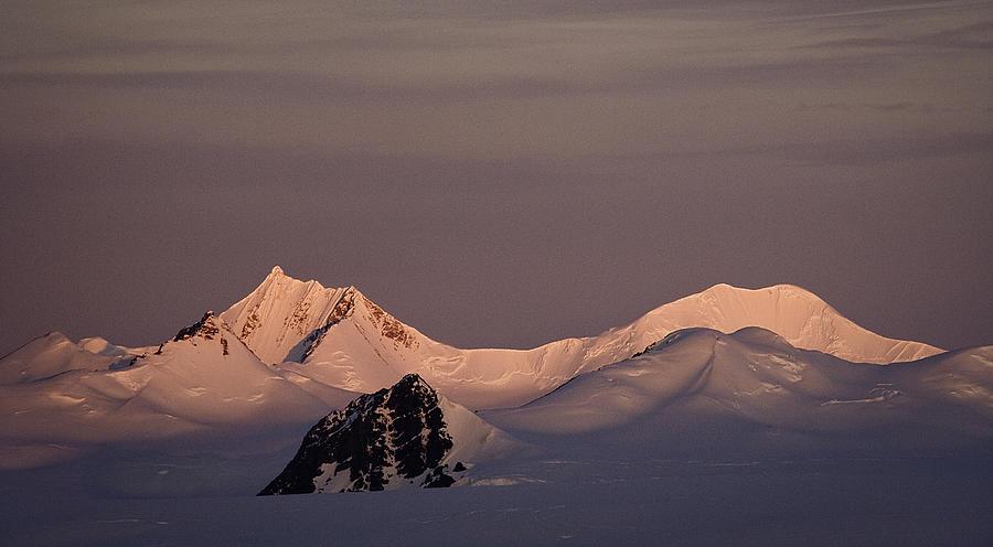 Antarctica Photograph - Alpine glow - Antarctica by Ralph Fahringer