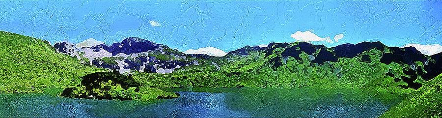 Alpine Painting - Alpine Lake by PixBreak Art