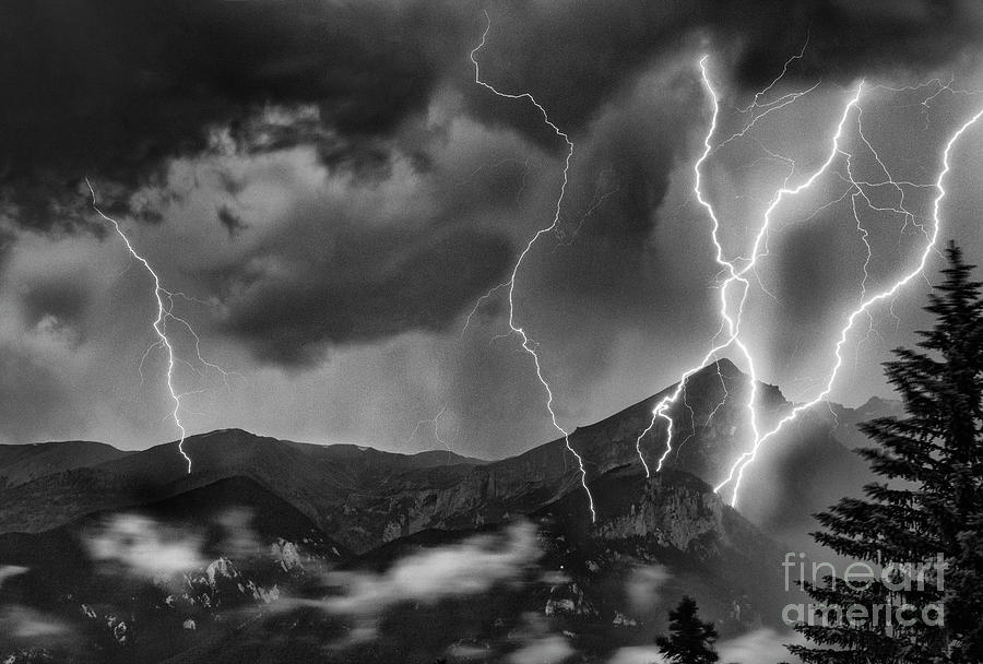 Lightning Photograph - Alpine Lightning by Damian Davies