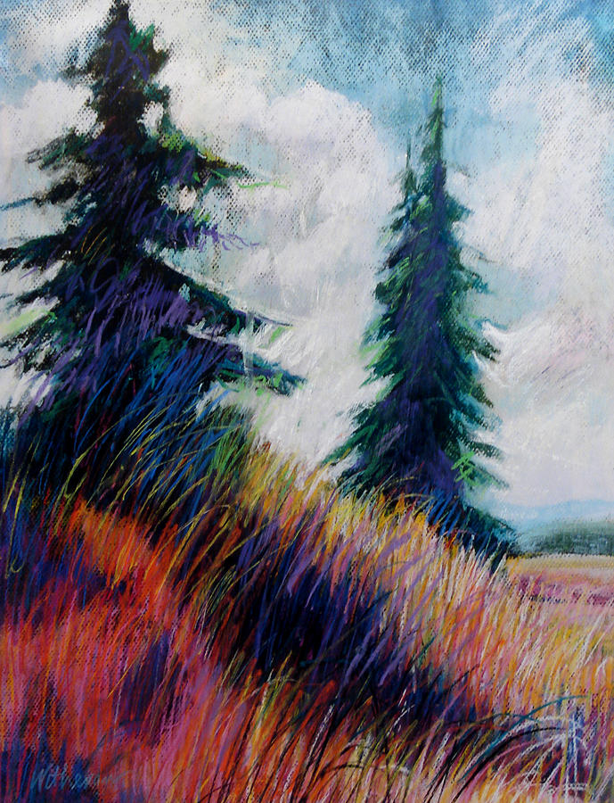 Landscape Painting - Alpine Meadow by Dale  Witherow