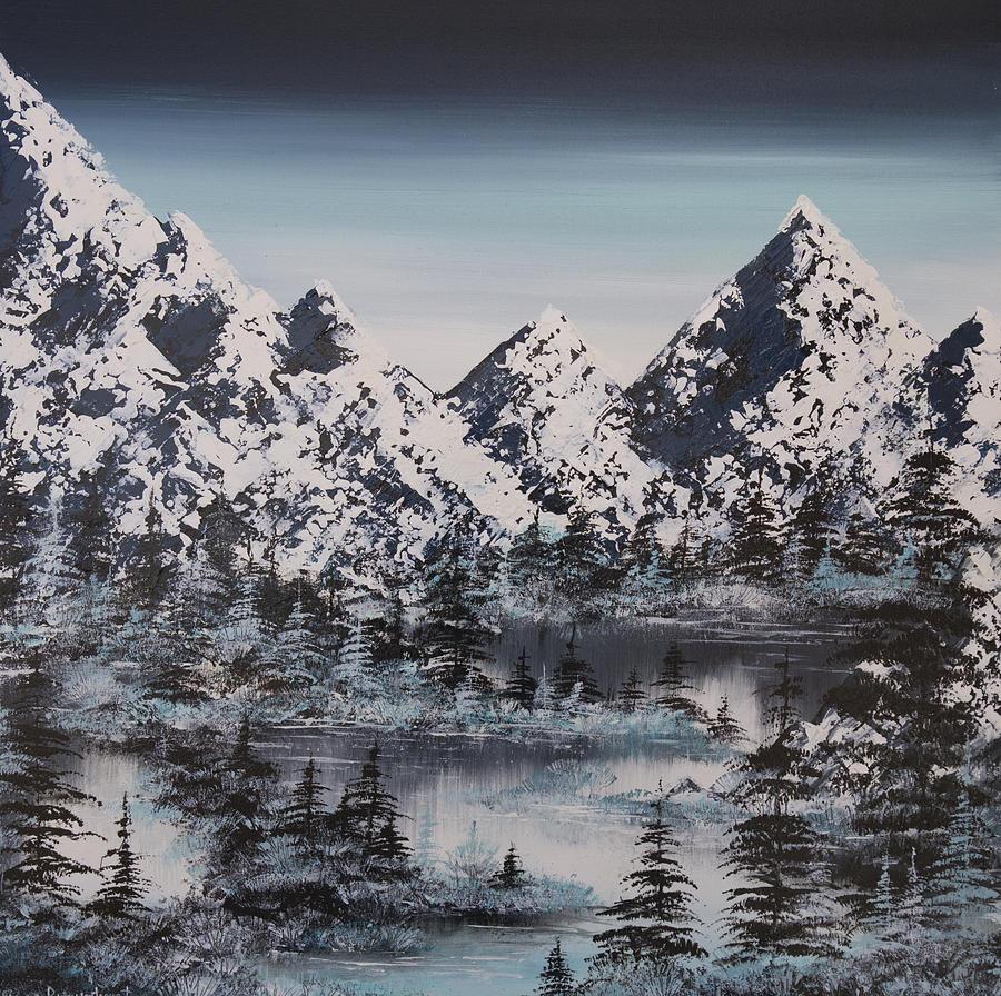 Mountains Painting - Alpine Peaks by Irina Rumyantseva
