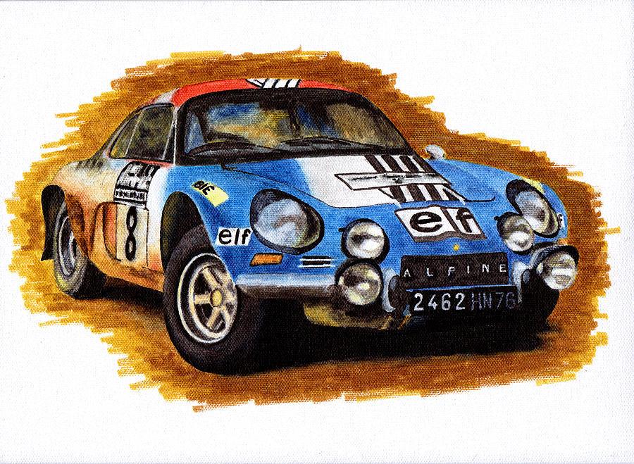 Formula 1 Painting - Alpine Renault A110 Jean-pierre Nicolas 1973 by Ugo Capeto