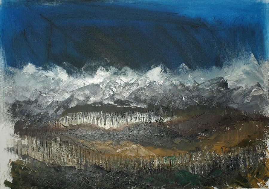 Alpine Spring Painting by Sarah Jane