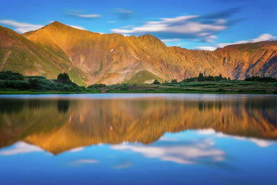 Alpine Sunglow Photograph