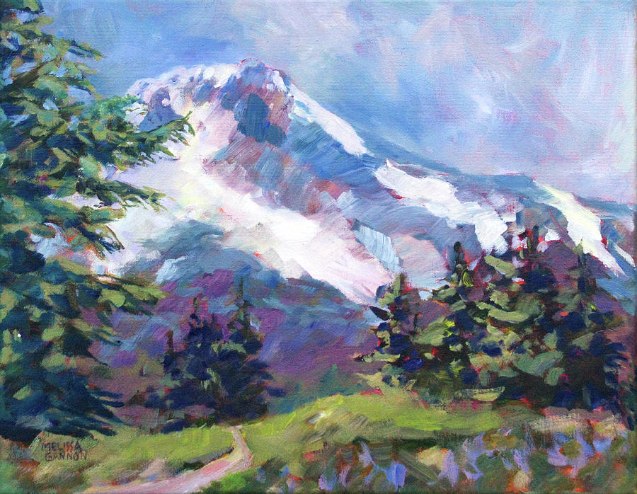 Mt. Hood Painting - Alpine View by Melissa Gannon