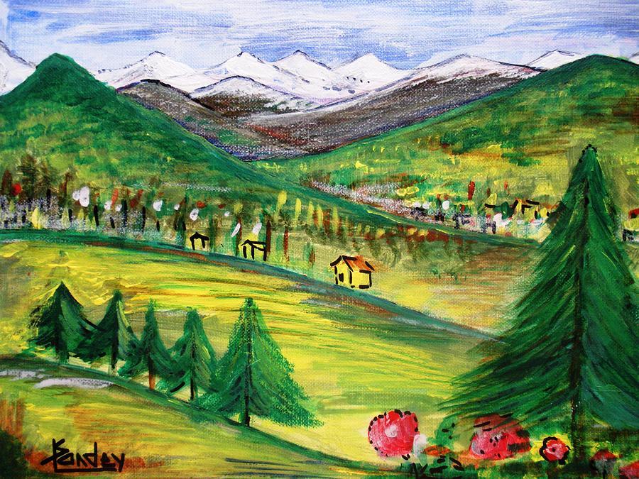 Landscape Painting - Alps Landscape by Kamal Pandey