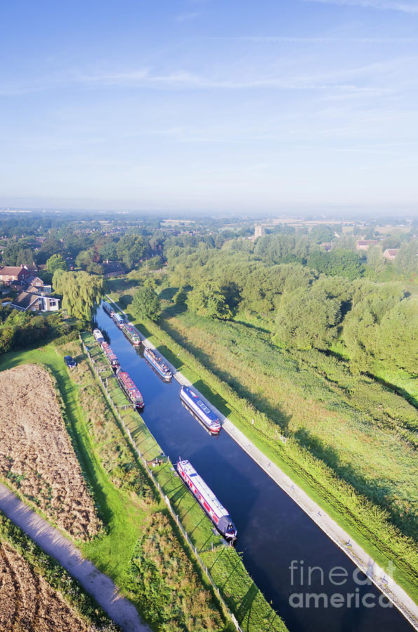 Canal Photograph - Alrewas Canal by Steev Stamford