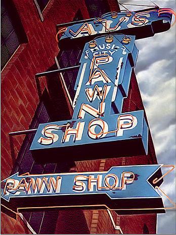 Sign Painting - Als Pawn Shop by Van Cordle