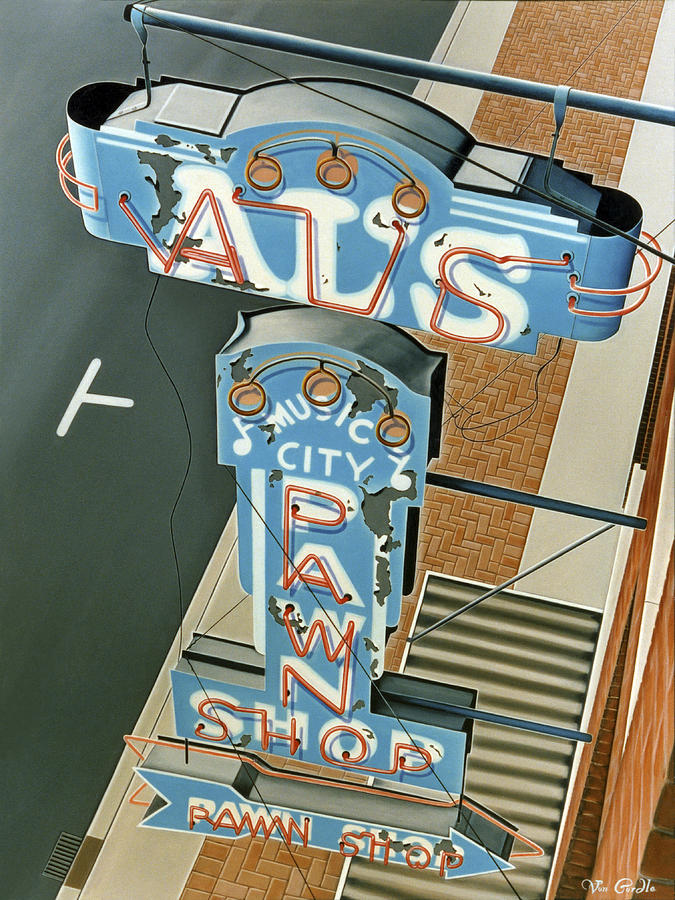 Sign Painting - Als  by Van Cordle