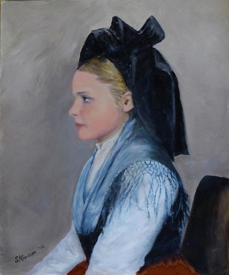 Alsatian Woman on Ellis Island by Sandra Nardone