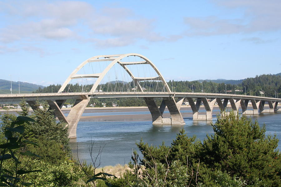 Alsea Photograph - Alsea Bridge Br 7002 by Mary Gaines